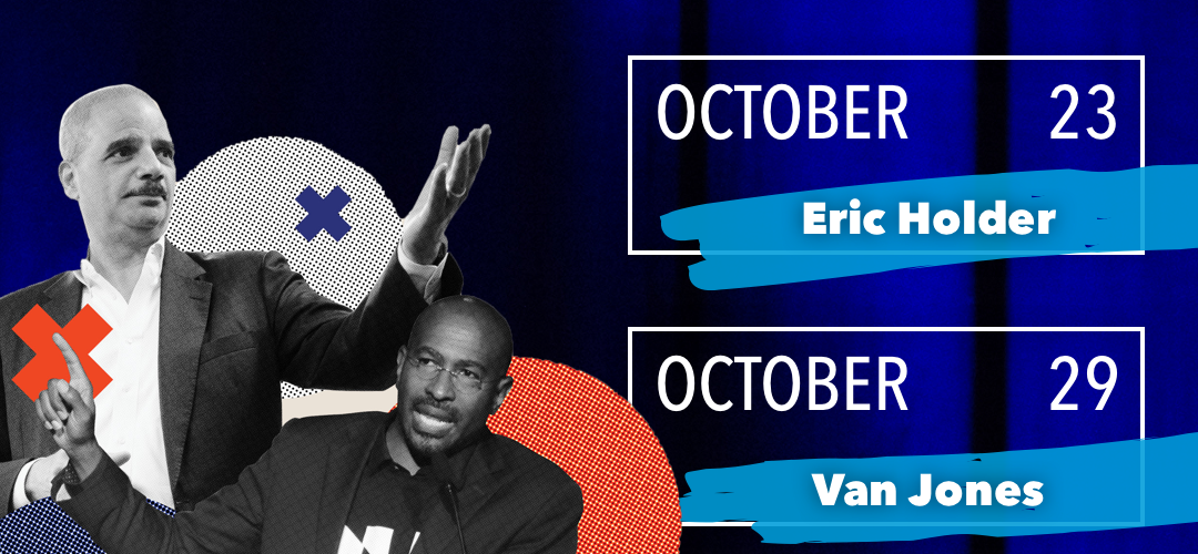 Eric Holder on 10/23, Van Jones on 10/29