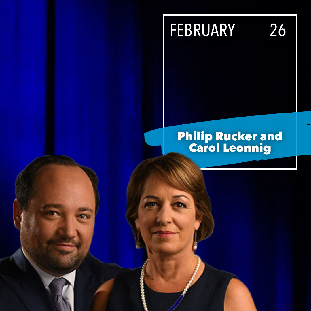 Photo of Philip Rucker and Carol Leonnig