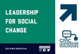 Civic Leadership Dialogue Logo with TEXT THAT READS Leadership for Social Change