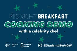 Midnight Breakfast Cooking Demo with a Celebrity Chef