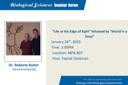 """Life at the Edge of Sight"" followed by ""World in a Drop"" January 24, 3:00 p.m., MPA B07."