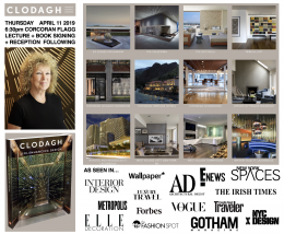 Clodagh: 11th Annual Interior Architecture Lecture