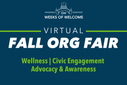 Fall Org Fair, Categories: Health & Wellness, Civic Engagement, Advocacy & Awareness