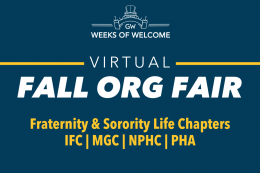 Fall Org Fair, Fraternity & Sorority Life Chapters