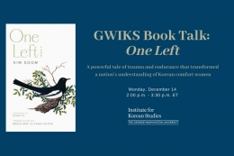 GWIKS Book Talk: One Left