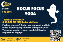 Hocus Focus Yoga | October 29, 8:00 PM EST via Zoom