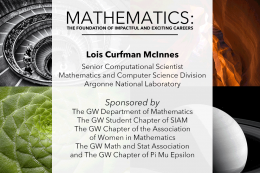 MATHEMATICS: THE FOUNDATION OF IMPACTFUL AND EXCITING CAREERS
