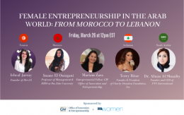 Female Entrepreneurship in the Arab World Panel Event