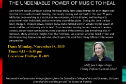 The Undeniable Power of Music to Heal flyer