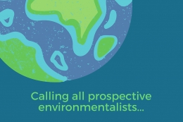 Calling all prospective environmentalists