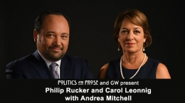 Philip Rucker and Carol Leonnig - black background