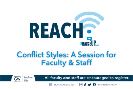 The REACH program presents: Conflict Styles, A Session for Faculty & Staff