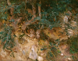 Sargent painting of woods