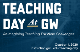 Teaching Day at GW, Thursday October 1, online sessions throughout the day