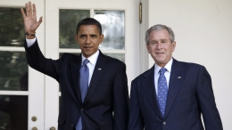 Presidents Bush and Obama