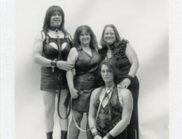Family in fetish costumes