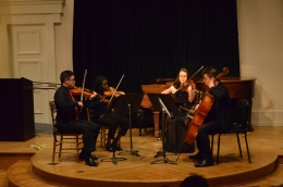 Students playing chamber music