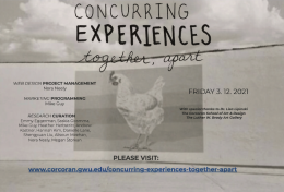Concurring Experiences poster