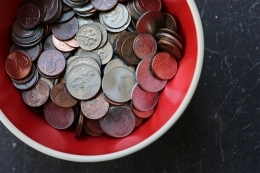 Bowl of loose change
