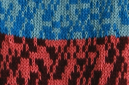 This is an up close picture of a textile piece by Amy Wike
