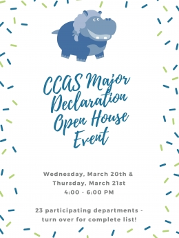 CCAS Major Declaration Open House Event