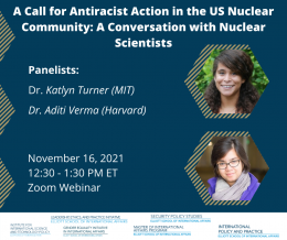 Event Flier featuring pictures of Dr. Katlyn Turner and Dr. Aditi Verma.