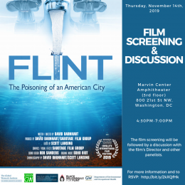 Flint Film Screening Flyer with movie poster