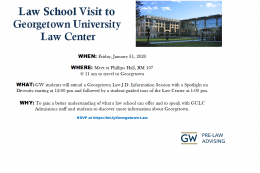 Attend a Law School Visit to Georgetown University Law Center