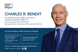 George Talks Business - Charles R. Bendit - Co-Chief Executive Officer of Taconic Investment Partners