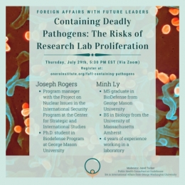 Containing Deadly Pathogens: The Risks of Research Lab Proliferation