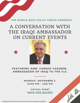 A Conversation with the Iraqi Ambassador