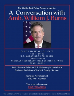 A Conversation on U.S. Diplomacy with Amb. Bill Burns