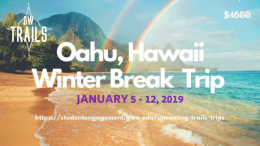 Oahu Winter Break Trip