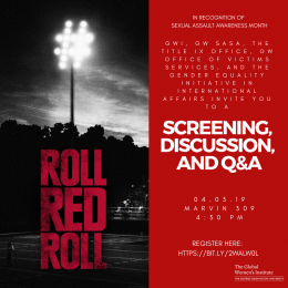 Roll Red Roll Film Screening, Discussion and Q and A flyer