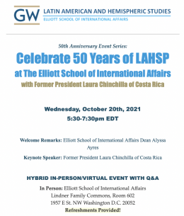 Event Flyer for 50th Anniversary of LAHSP