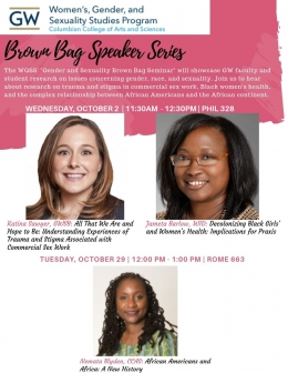 WGSS Brown Bag Speaker Series 2019