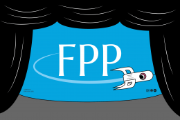 FPP logo with rocket