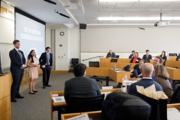 Students competing in the Pitch George Competition