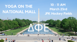 DPE Yoga on the National Mall, March 23rd, 10 - 11 AM, JFK Hockey Fields