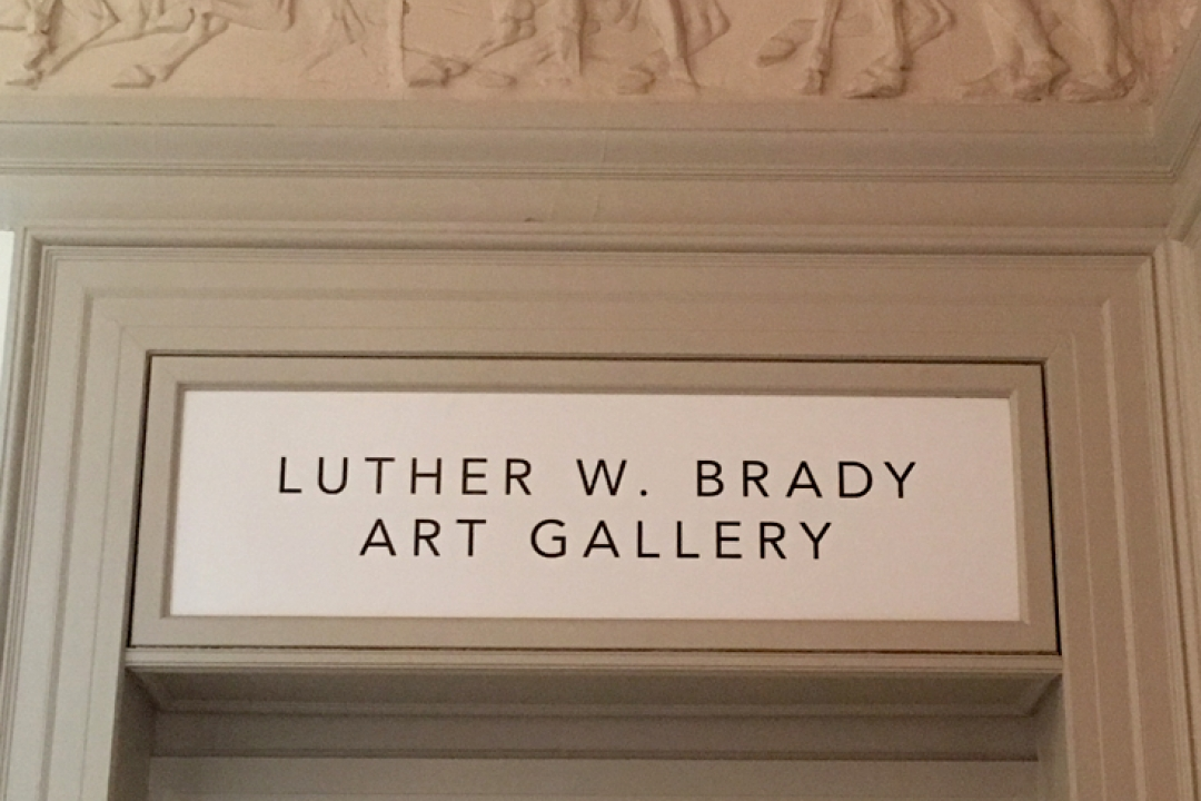 photo of Luther W. Brady art gallery sign