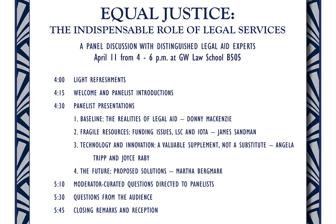 Equal Justice: The Indispensable Role of Legal Services