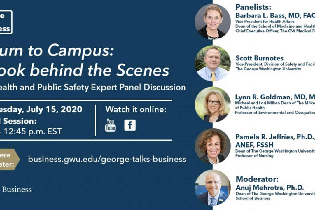 George Talks Business - Return to Campus Panelists