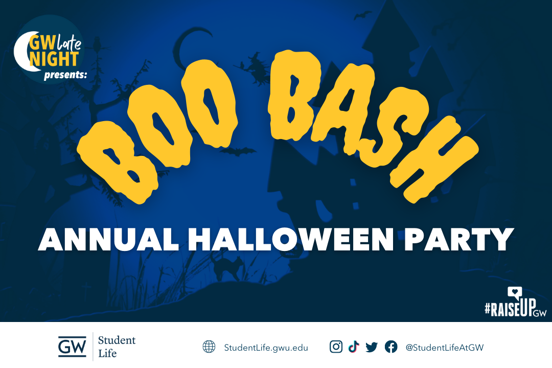 GW Late Night presents: Boo Bash Annual Halloween Party