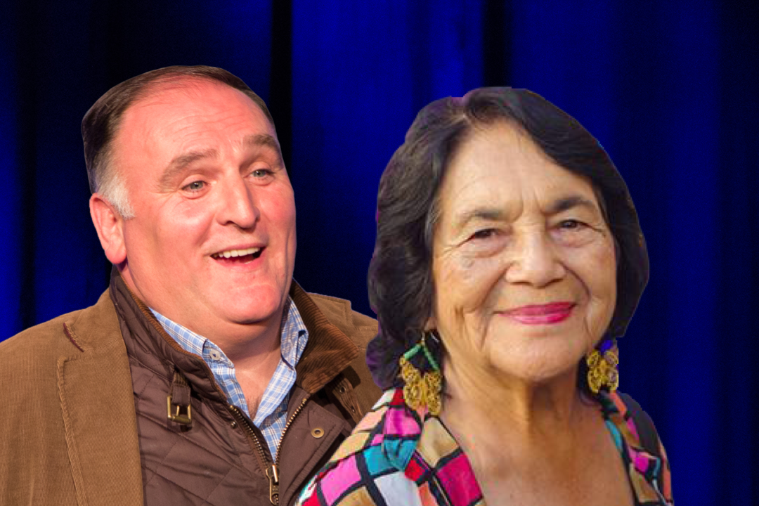Chef Jose Andres and Dolores Huerta
