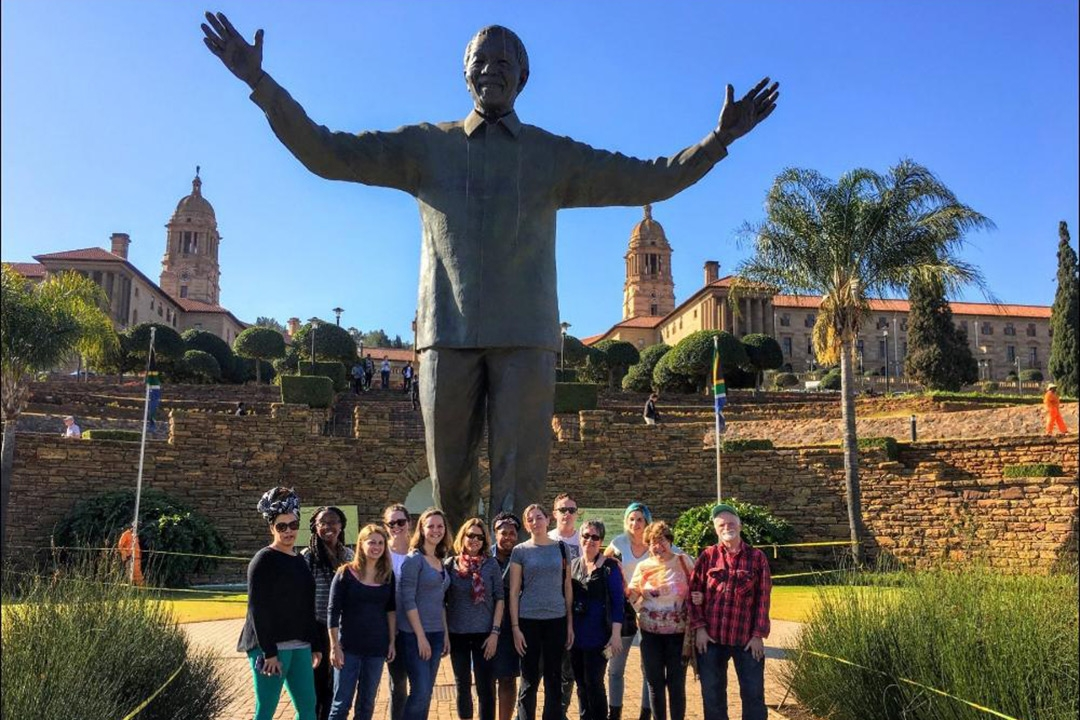 GW study abroad students in South Africa