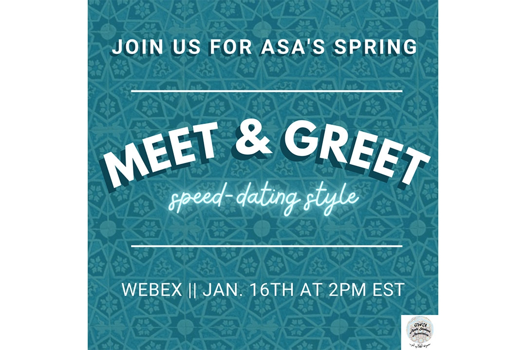 Join us for asa's spring meet & greet, speed-dating style. Webex, Jan. 16th at 2pm EST