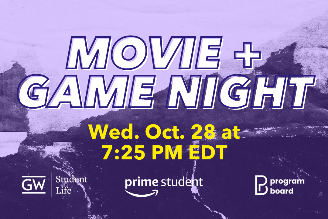 Movie and Game Night Wednesday Oct. 28th at 7:25 PM EDT