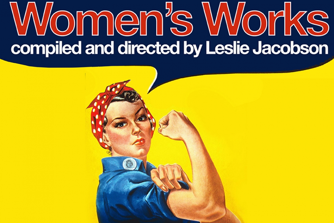 Women's Works poster with Rosie the Riveter