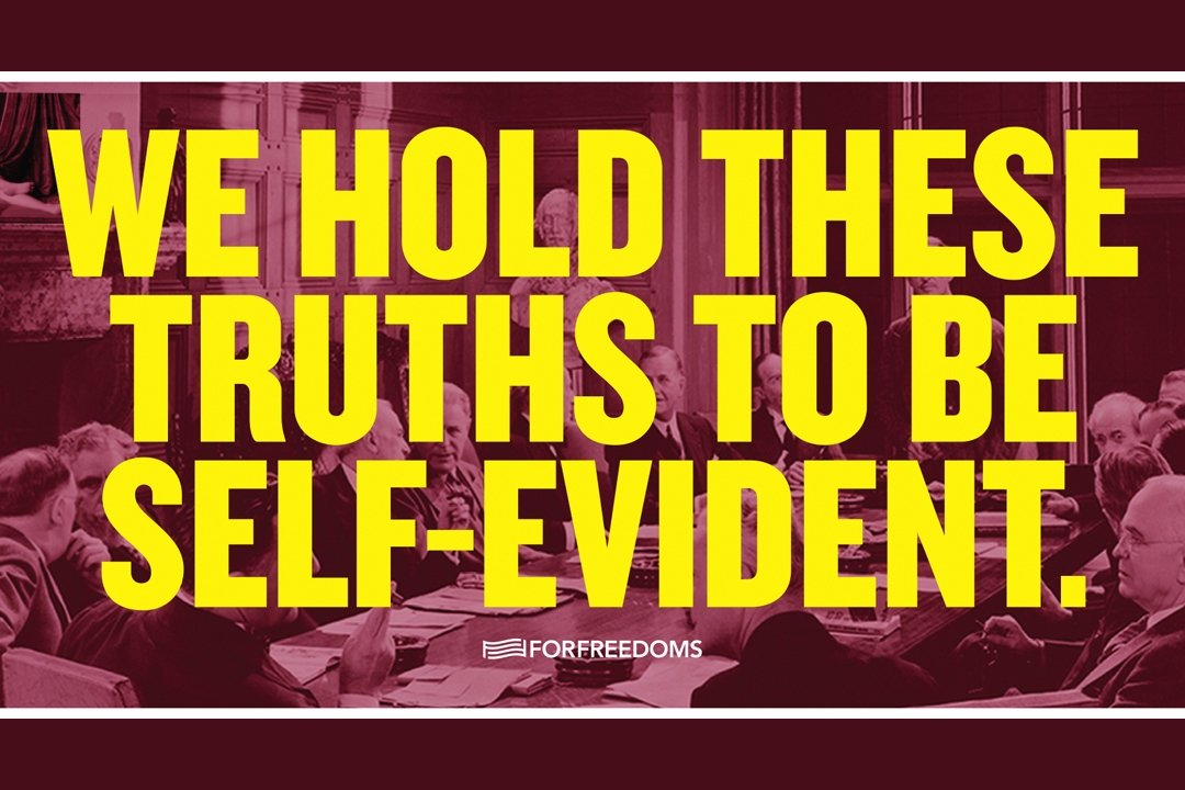 Poster for We hold these Truths to be Self Evident