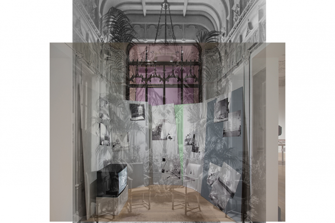 Conservatory of the Warburg Mansion, now the Robert J. Hurst Family Gallery. Installation v
